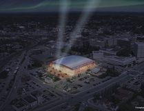 This is what a new arena/events centre in downtown Sudbury might look like.