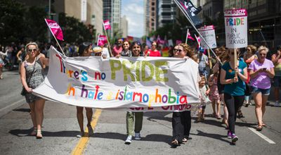 The Dyke March along Bloor St. W. in Toronto, Ont.  on Saturday June 24, 2017. Ernest Doroszuk/Toronto Sun/Postmedia Network