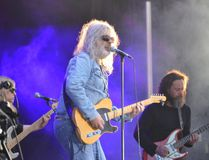 Michel Pagliaro and his band perform Saturday, on the first night of the Stars & Thunder International Fireworks and Music Festival being held at Hollinger Park in Timmins this week.