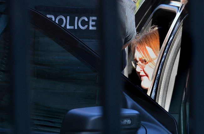 Former nurse Elizabeth Wettlaufer arrives at the Woodstock Courthouse to hear victim impact statements from the families of her elderly victims on Monday June 16, 2017. MORRIS LAMONT/THE LONDON FREE PRESS /POSTMEDIA NETWORK