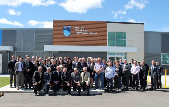 Melcor Developments and NAIT unveiled the newly named Melton Crane and Hoisting Building at the post secondary institutions Spruce Grove Campus last week.
