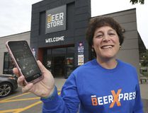 Andrea Randolph, V-P Retail for The Beer Store, will announce Tuesday, June 27, 2017 that a beer home delivery service will be available for ordering through computers or smartphones. (Stan Behal/Toronto Sun)