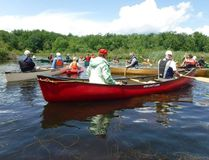Submitted photo Canoe and kayak enthusiasts spent Sunday on a 10 kilometre paddle trip down the Trent River. The expedition was part of the Outdoor Series offered through Lower Trent Conservation.