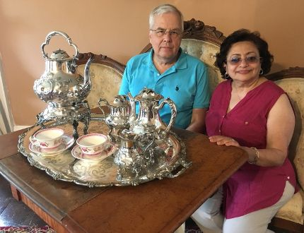 <p>Christopher Penney and Marie Penney, board president and director, with the tea set donated to the Cornwall Community Museum on Friday June 23, 2017 in Cornwall, Ont. </p><p> Rachel Faber/Cornwall Standard-Freeholder/Postmedia Network