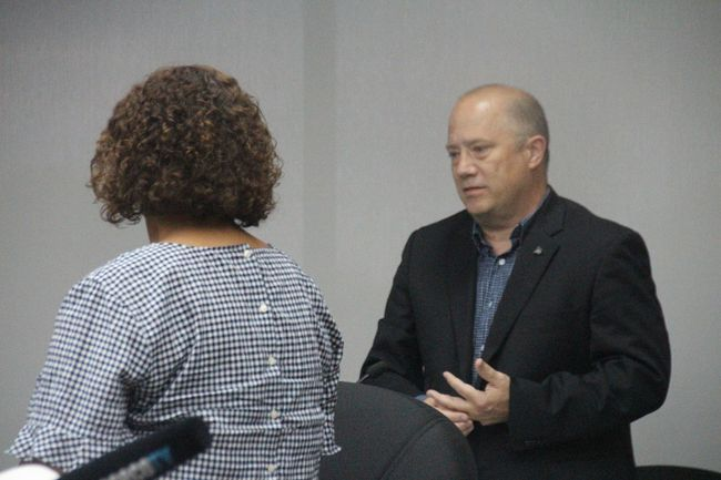 <p>Economic development manager Bob Peters answers questions from Coun. Bernadette Clement on his department's efforts to promote tourism this summer on Monday June 26, 2017 in Cornwall, Ont. </p><p> Alan S. Hale/Cornwall Standard-Freeholder/Postmedia Network