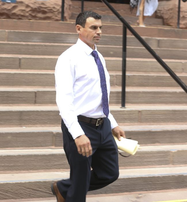 Ken Pagan leaves Old City Hall court in Toronto after being sentenced on Wednesday, June 28, 2017. (Jack Boland/Toronto Sun)