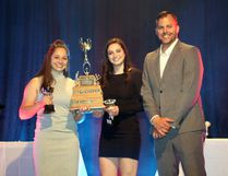 SCA female athlete of the year co-winners Jordyn Roth and Taylor Fermaniuk. Photo supplied