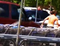Video of Christine Marie Braswell allegedly running down an accused purse-snatcher. (CBS North Carolina)