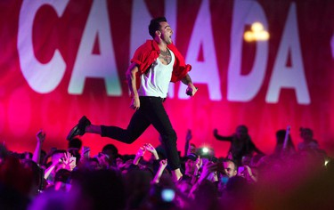 Hedley was the closing act that performed at WE Day Canada Sunday July 2, 2017 on Parliament Hill.   Ashley Fraser/Postmedia
