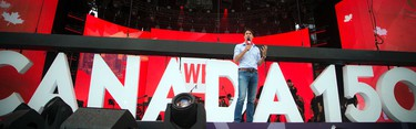 Prime Minister Justin Trudeau took part in WE Day Canada Sunday July 2, 2017 on Parliament Hill.   Ashley Fraser/Postmedia