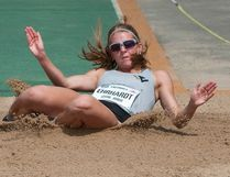 Espanola's Caroline Ehrhardt regained her national triple jump title at the Canadian Track and Field Championships in Edmonton last summer. Dan Riedlhuber/Canadian Press