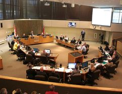 City council members debate at a special city council meeting on Tuesday June 27, 2017. (Gino Donato/Sudbury Star)