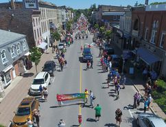 Kincardine Pride 2017 was a historic event for the community, Bruce County and rural Canada as a whole. (Drone image by Craig Kirkconnell)