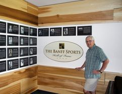 Bob Ellard, chair of the new Bow Valley Sports Hall of Fame, with the Class of 2017. The first inductees into the new hall of fame, which is being organized by the Bow Valey True Sport and Recreation Council, are from the Banff Sports Hall of Fame, which became dormant after inducting its 2008 entrants.