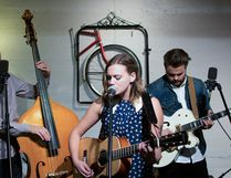Paul Cournoyer, Steph Blais and Brayden Treble form indie-folk trio Post Script. Photo Supplied