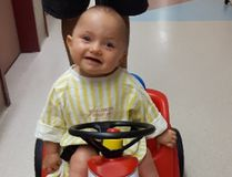Lennie Ukena the Woodlands toddler who is going to Montreal to help treat her bilateral hip displaysia a condition that she was born with. (Submitted Photo)