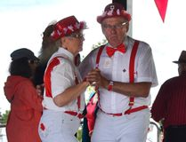 A couple dance up a storm while dressed in style on the stage. (Katelyn Boulanger/Stonewall Argus and Teulon Times)
