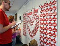 Residents attempt to answer all 150 trivia questions for a prize at Quarry Parks Canada Day celebrations. (Katelyn Boulanger/Stonewall Argus and Teulon Times)