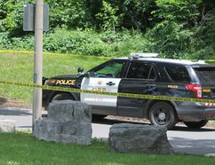 "Ontario Provincial Police are investigating what they call a ""serious incident"" at Springside Park in Napanee, Ont. on Thursday July 6, 2017. Steph Crosier/Kingston Whig-Standard/Postmedia Network"