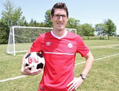 Stratford-based doctor Andrew Prout will captain Team Canada at the World Medical Football Championships July 8-16 in Austria. (Cory Smith/The Beacon Herald)