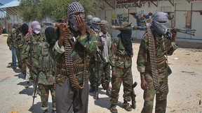 Al-Qaida-linked al-Shabab recruits are seen in a March 5, 2012 file photo.  (Mohamed Abdiwahab/AFP/Getty Images)