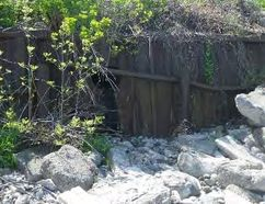 Deteriorating shoreline protection in Bright's Grove, as pictured in a 2012 report making the case for repairs. The City of Sarnia is matching a $300,000 grant from the Ministry of Natural Resources for repair work set to start later this year.