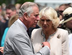 Prince Charles, Prince of Wales and Camilla, Duchess of Cornwall visit Wellington Farmer's Market, located on the shore of Lake Ontario, during day two of their three day visit to Canada on June 30. Postmedia Network