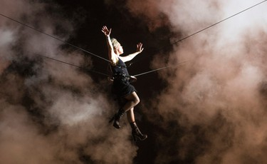 P!nk flew over the crowd as her encore at RBC Bluesfest Sunday July 9, 2017.   Ashley Fraser/Postmedia