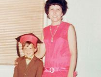 Submitted photo A young Paul Kelly in seen here at his kindergarten graduation with his teacher Arlene Brash.