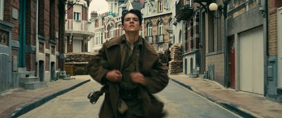 "FIONN WHITEHEAD as Tommy in the Warner Bros. Pictures action thriller ""DUNKIRK,"" a Warner Bros. Pictures release."