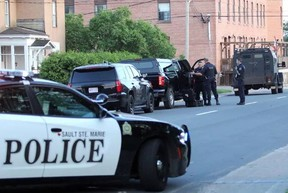 Police respond to a man barricaded at Algonquin Hotel on July 6. Cindy Ougler for Postmedia Network