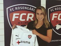 Sudbury's Jenna Hellstrom has begun her pro soccer career in Sweden. Supplied photo