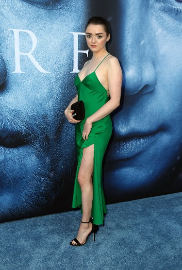 """Maisie Williams attends the """"Game of Thrones"""" Season 7 premiere screening at the Walt Disney Concert Hall on July 12, 2017 in Los Angeles, Calif. (FayesVision/WENN.COM)"""