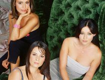 """Charmed"" television show characters Alyssa Milano as Phoebe Halliwell, Holly Marie Combs as Piper Halliwell, Shannen Doherty as Prue Halliwell. (Supplied)"