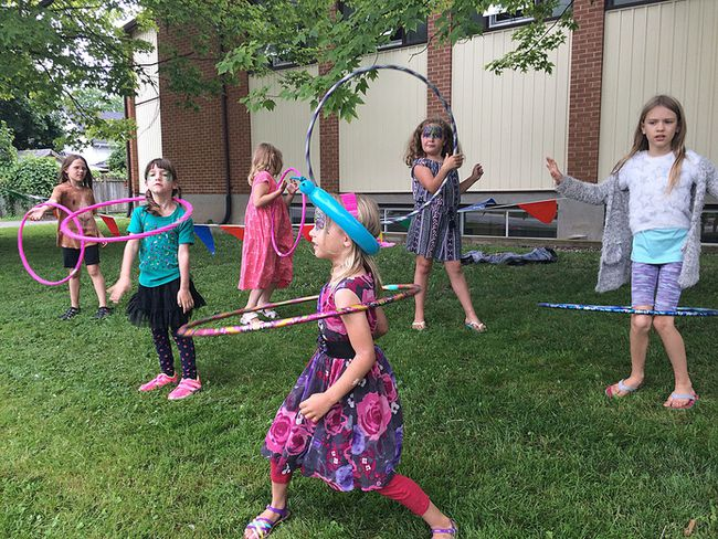 On Friday July 14 2017 children of the Not So Amateur Amateurs summer busker program hosted their 7th Annual Young Peoples Buskers Festival at St. Marks Lutheran Churc h in Kingston. Megan Glover/Whig-Standard/Postmedia Network