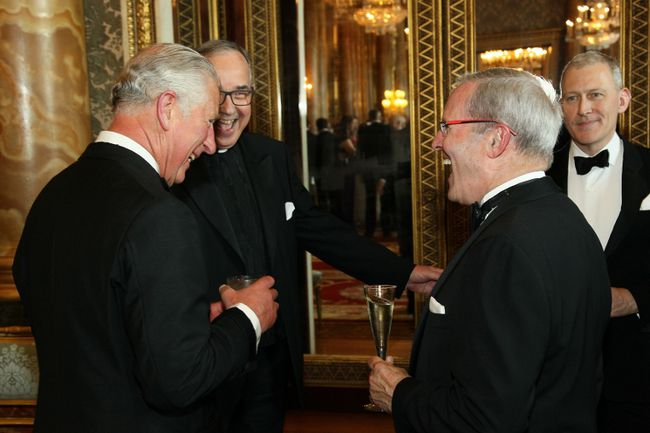 Peter Partridge with Prince Charles
