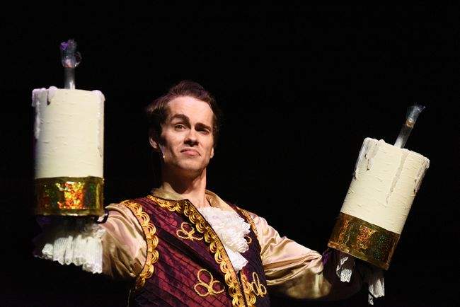 DHT File Photo Nilsen Tiefenbach does his best Lumiere impression in the Broadway Live Broadway production of Beauty and The Beast at the Douglas J. Cardinal Theatre in October 2016. Friday, the Ministry of Culture and Tourism released a list enumerating the nonprofits across the province that received a total of $62 million in the 2016-2017 fiscal year. More than $330,000 went to groups in Grande Prairie. Broadway Live Broadway received $45,000 to support its production of Disney's Beauty and the Beast.