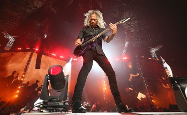 Metallica guitarist Kirk Hammett plays Bellz as they brought their World Wired tour to the Rogers Centre  in Toronto, Ont. on Monday July 17, 2017. Jack Boland/Toronto Sun/Postmedia Network