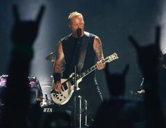 Metallica lead singer James Hetfield plays Atlas as they brought their World Wired tour to the Rogers Centre in Toronto, Ont. on Sunday July 16, 2017. Jack Boland/Toronto Sun/Postmedia Network