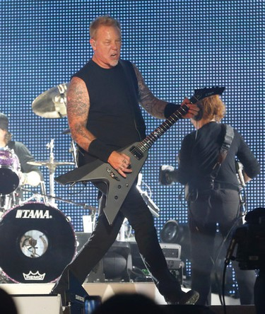 Metallica lead singer James Hetfield plays Hardwired as they brought their World Wired tour to the Rogers Centre  in Toronto, Ont. on Sunday July 16, 2017. Jack Boland/Toronto Sun/Postmedia Network