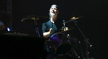 Metallica drummer Lars Ulrich plays Bellz under the lights  as they brought their World Wired tour to the Rogers Centre  in Toronto, Ont. on Sunday July 16, 2017. Jack Boland/Toronto Sun/Postmedia Network