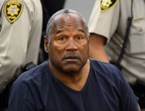 O.J. Simpson appears during a break in an evidentiary hearing in Clark County District Court on May 14, 2013 in Las Vegas, Nevada. (Ethan Miller/Getty Images)