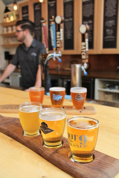 Creemore Springs Brewery has several small batch beers on tap in the tasting room, but their flagship Premium Lager is still the writer's favourite. BRIAN QUINN PHOTO