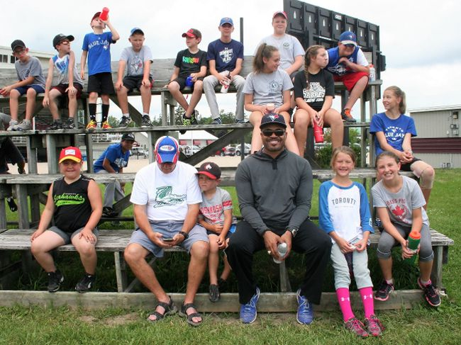 Former Toronto Blue Jay and two-time Golden Glove winner Jesse Barfield headlined the instructors at the Clinton Minor Baseball Camp last week. The camp provides an opportunity for youth to get active and learn about the game of baseball.