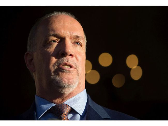British Columbia Premier-designate, NDP Leader John Horgan speaks outside Government House after meeting with Lt-Gov. Judith Guichon in Victoria, B.C., on Thursday, June 29, 2017.
