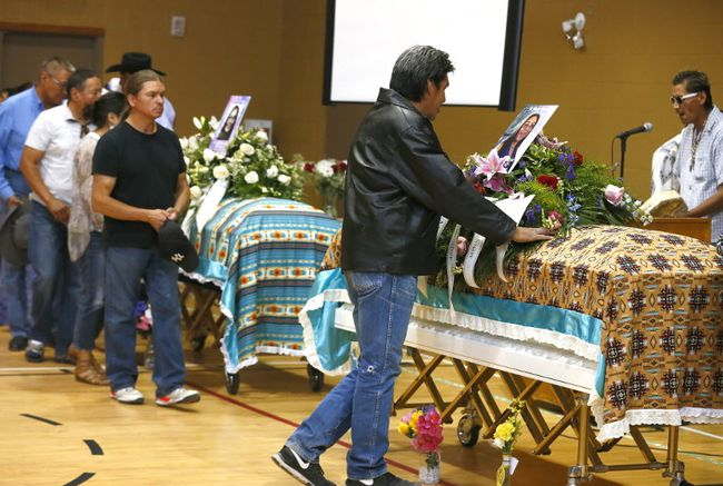 Funeral for Glynnis Fox and Tiffany Ear