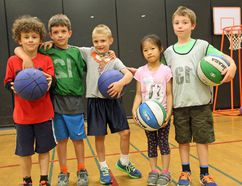 Aethan Sunderland, Murray Brazeau-Doran, Aleks Scullian, Alice Yang and Mathieu Cayer were some of the youth who took part in this year's summer Dribbling Camp at Fellowes.