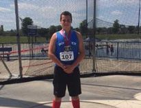 Saugeen Track & Field Club athlete Jeremy Elliott earned a Gold and two Silver medals at the Royal Canadian Legion Ontario Track and Field Championships in Windsor July 15-16. Submitted photo
