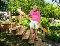 City says staircase will cost over $65k, resident builds one for $550 - city wants it taken down_19