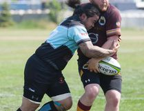 The Fort McMurray Knights were handed their first home defeat of the season Saturday, falling to the Edmonton Nor'Westers by a 43-10 final. Robert Murray/Fort McMurray Today/Postmedia Network